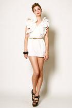white Vintage from THRIFTEDnet shorts