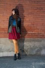 Red-buffalo-check-sirens-outlet-dress-black-lace-up-h-m-boots