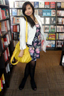 Blue-topshop-dress-blue-mng-jacket-black-mng-shoes-yellow-thrift-accessori