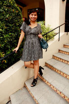 black thrift dress - black Charles & Keith shoes