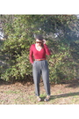 Forever21-sweater-belt-gray-pants-blue-shoes