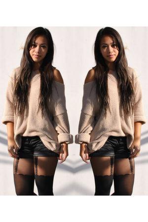 Topshop - Wonder Woman shorts - Miss Selffridge tights - Topshop boots