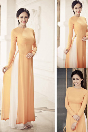 carrot orange dress - black hair accessory - white pants