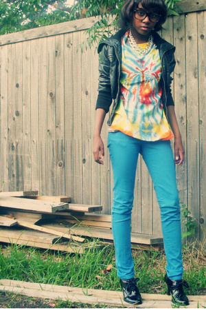 forever 21 jacket - forever 21 jeans - Classified shoes - Urban Outfitters glass