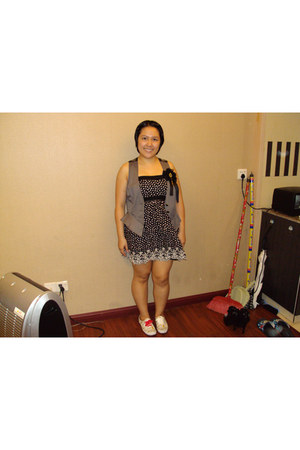 heather gray abbey dawn  alice vest - Forever21 dress - Keds shoes