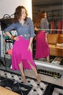 Navy-top-hot-pink-skirt-tan-chinese-laundry-heels