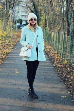 lindex coat - asos bag - beanie Zara accessories