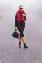 Stradivarius skirt - Zara boots - H&M jacket