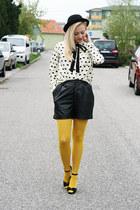 Oasapcom shirt - new look shoes - H&M hat - Bepon tights - New Yorker shorts