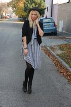 vintage dress - Newlook boots - Terranova blazer