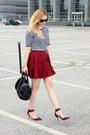 Zara-shoes-stradivarius-skirt