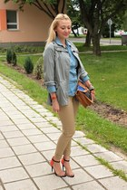 Zara shoes - parka vintage jacket - Zara shirt - Primark bag - H&M pants