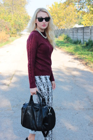 H&M sweater - Ebay bag - H&M pants - Dorothy Perkins heels