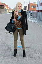 Zara top - asos shoes - New Yorker coat - H&M jeans - Zara shirt