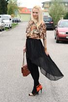 Zara shoes - Gate purse - vintage top - Sheinsidecom skirt