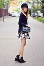 Zara-boots-choies-hat-sheinside-skirt