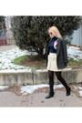 Turtleneck-vintage-top-pimkie-coat-bepon-tights-h-m-skirt