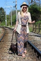 Primark dress - asos bag - Primark cardigan - asos sandals