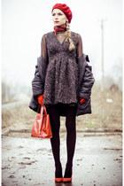 black Sheinside dress - black Fiore tights