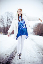 blue mr gugu dress - off white Choies coat