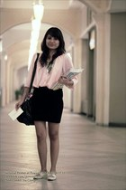 Eightone blouse - Topshop skirt - Cole Vintage flats