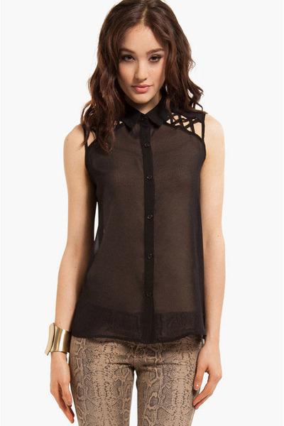 polyester Tobi blouse