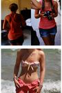Orange-mads-nrgaard-top-blue-topshop-shorts-pink-h-m-swimwear-orange-matth