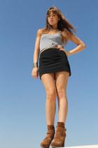 Uterqe boots - Fridays Project top - Sfera belt - H&M skirt