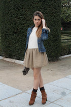 Uterqe boots - H&M dress - Zara jacket - Zara bag - Topshop socks