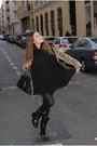 Uterqe-boots-h-m-dress-queens-wardrobe-coat-zara-scarf-blanco-bag