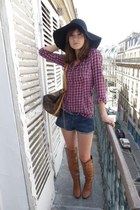 Pimkie boots - H&M hat - Zara shirt - Louis Vuitton bag - handmade shorts