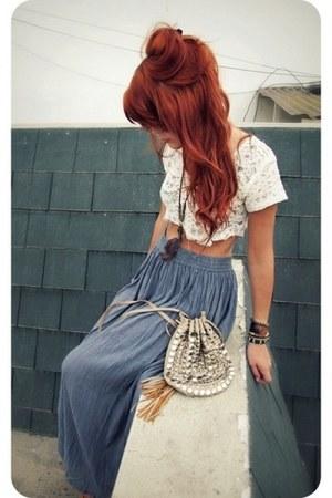 blue maxi skirt fairyprom dress