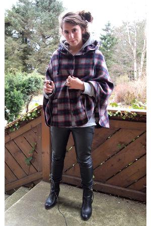 acne boots - Cubus pants - H&M sweater - H&M top - BikBok jacket - eBay H&M acce