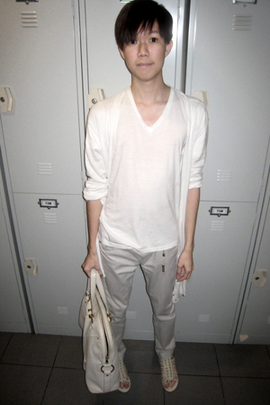 lanvin t-shirt - Giorgio Armani jacket - Topman pants - from singapore shoes - Y