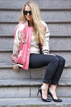 black Christian Louboutin pumps - bubble gum Isabel Marant jacket