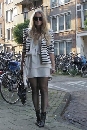 Zara jacket - acne dress - balenciaga purse