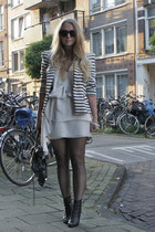 Zara jacket - acne dress - balenciaga purse