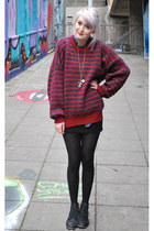 brick red knitted vintage jumper
