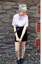 light purple pleated Pumpkin Soup blouse - black H&M skirt