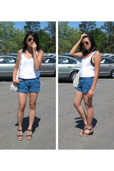 Hanes shirt - Roxy shorts - Lower East Side shoes