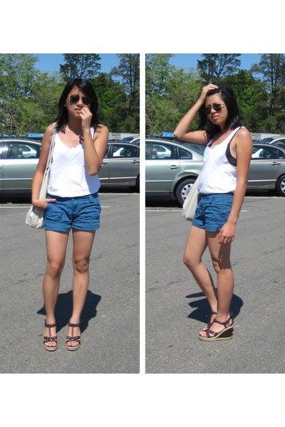 Hanes shirt - Roxy shorts - Lower East Side shoes