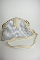 Vintage White Chainmail Purse