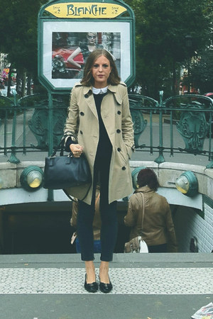 Burberry coat - The Kooples jeans - Prada bag - Salvatore Ferragamo flats
