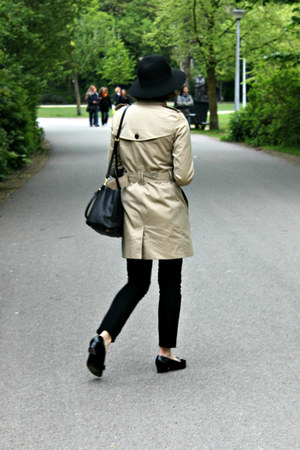 Burberry coat - Prada bag - Topshop pants - Salvatore Ferragamo flats