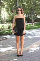 black Chanel bag - black ray-ban sunglasses - black Isabel Marant skirt