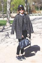black The Kooples jeans - gray Isabel Marant coat - dark gray Equipment sweater
