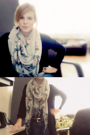 heather gray floral H&M scarf