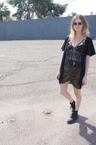 doc martens boots - Shakuhachi shirt - Miu Miu sunglasses - Isabel Marant skirt