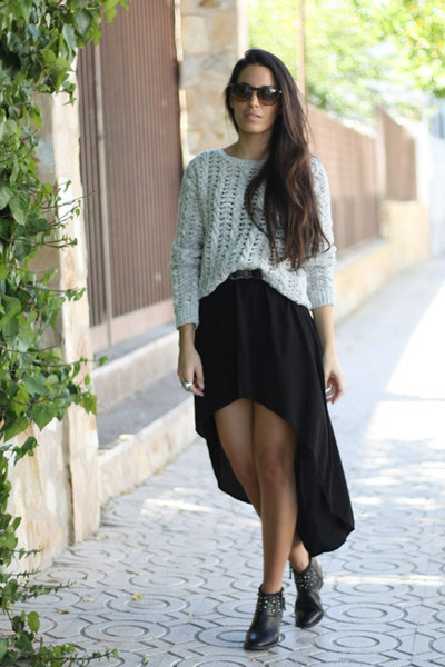 Stradivarius sweater - Zara boots - Zara dress