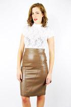 tan Trashy Vintage skirt